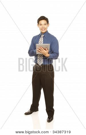 Man with a Tablet Computer