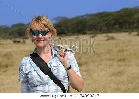 Blonde Girl In Africa