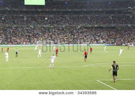 Euro 2012. Spanien vs. Frankreich
