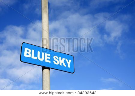 Blue Sky Sign