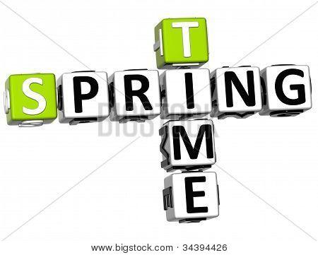 3D Spring Time Crossword