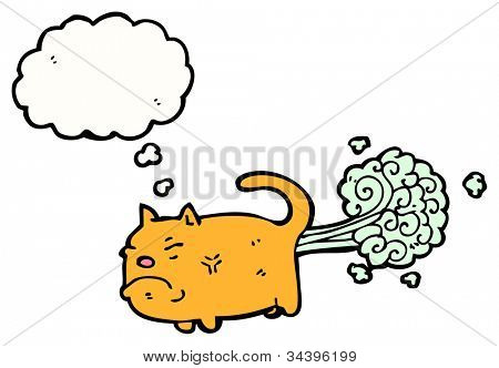 farting cat cartoon