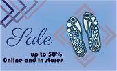 Shoe Sale Banner Template Vector .shoe Sole Design poster