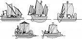 Постер, плакат: парусные корабли
