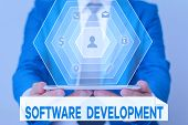 Word Writing Text Software Development. Business Concept For Software Is Created Using A Specific Pr poster