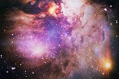 Chaotic Space Background. Dreamscape Galaxy. The Elements Of This Image Furnished By Nasa. poster