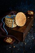 Feta Waffle Crackers - Salty Snacks Made With An Iron Press poster
