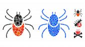 Mite Tick Composition Of Small Circles In Different Sizes And Shades, Based On Mite Tick Icon. Vecto poster