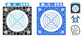 Mining Asic Hardware Mosaic Of Circle Elements In Various Sizes And Color Tints, Based On Mining Asi poster