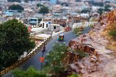 Tilt shift lens - Jodhpur ( Also blue city) is the second-largest city in the Indian state of Rajast poster