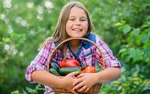 Gmo Free. Eco Farming. Girl Cute Smiling Child Living Healthy Life. Healthy Lifestyle. Healthy Homeg poster