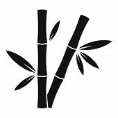 Jungle Bamboo Icon. Simple Illustration Of Jungle Bamboo Vector Icon For Web Design Isolated On Whit poster