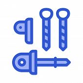 Belay Rappel Alpinism Sport Equipment Vector Icon Thin Line. Compass, Mountain Direction And Burner  poster