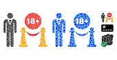 For Adults Only Mosaic Of Filled Circles In Variable Sizes And Color Tinges, Based On For Adults Onl poster
