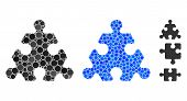 Hex Puzzle Item Composition Of Spheric Dots In Various Sizes And Shades, Based On Hex Puzzle Item Ic poster