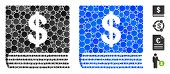 Dollar Accounting Book Composition Of Filled Circles In Variable Sizes And Color Tinges, Based On Do poster