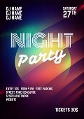 Black Flyer Template On Light Background.night Party Flyer.night Club Celebration.futuristic Neon Po poster