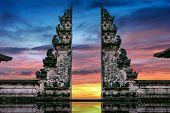 Temple Gates At Lempuyang Luhur Temple In Bali, Indonesia. poster