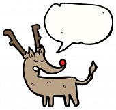 foto of rudolf  - rudolf the red nosed reindeer cartoon - JPG