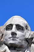 stock photo of mount rushmore national memorial  - Closeup of former U - JPG