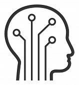 Artificial Intelligence Vector Icon. Flat Artificial Intelligence Symbol Is Isolated On A White Back poster