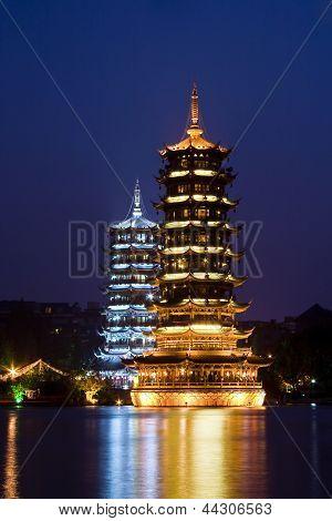 Pagodas in Guilin, China