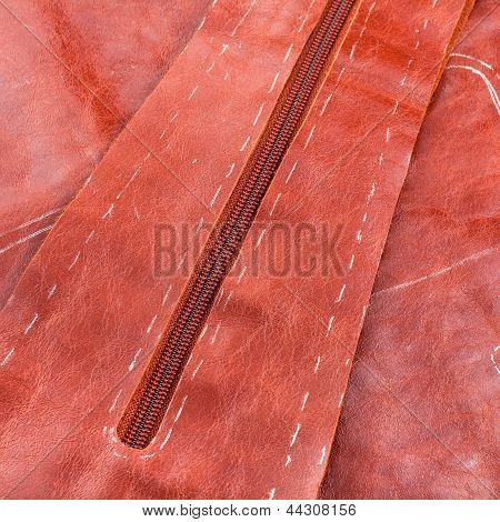 Cutting Of Brown Leather