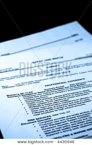 Fictitious Resume