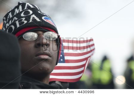 Young Black Obama Supporter