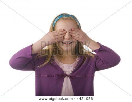 Girl Covering Eyes