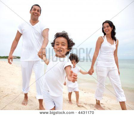 Happy Family On Vacation