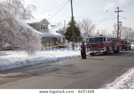 Fire Department Response To Ice Storm