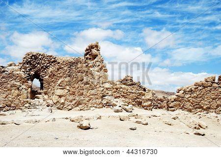 Ruins Of Ancient Fortress Masada