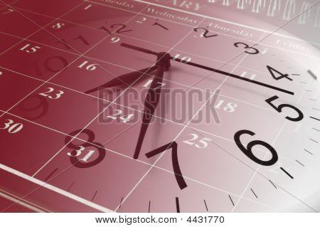 Calendario y reloj