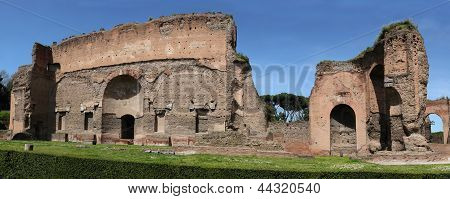 Las ruinas de las Termas de Caracalla en Roma, Italia