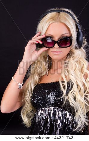 Blond Woman Withsunglasses