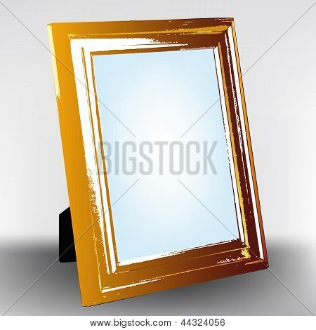 Vector old wooden foto frame