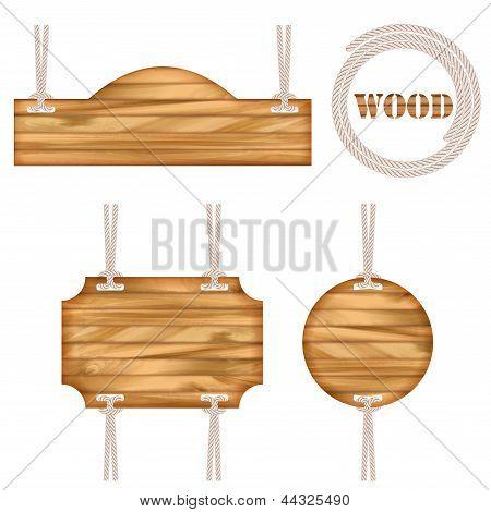 Wood Vector Frame Rope Design