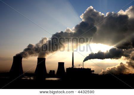 Coal Power Plant Fumes