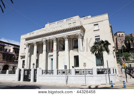 Bank Of Spain In Malaga, Spain