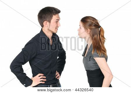Young Caucasian Couple Arguing