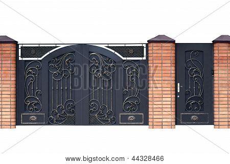 Modernas forjadas portas decorativas.