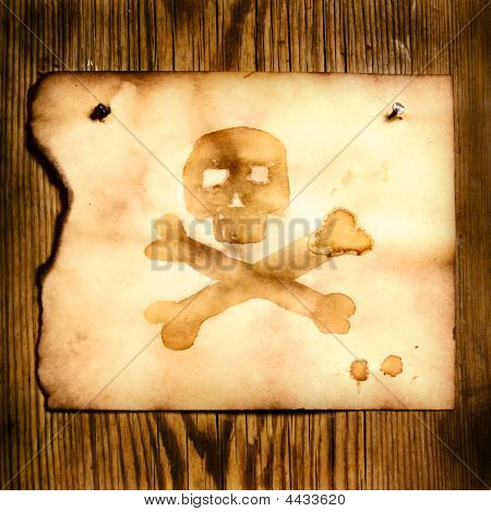 Paper With Skull And Crossbones