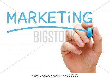 Marketing Blue Marker