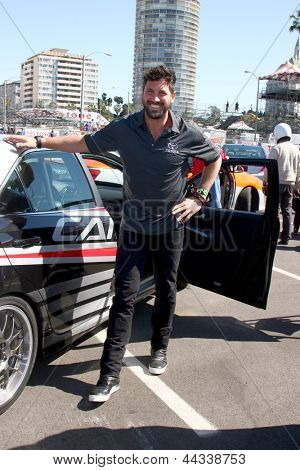 LOS ANGELES - APR 9:  Maksim Chmerkovskiy at the Toyota ProCeleb Race Press Day 2013 at the Toyoto Grand Prix Circuit on April 9, 2013 in Long Beach, CA