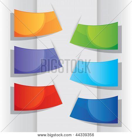 Colorful Label, Vector Illustration