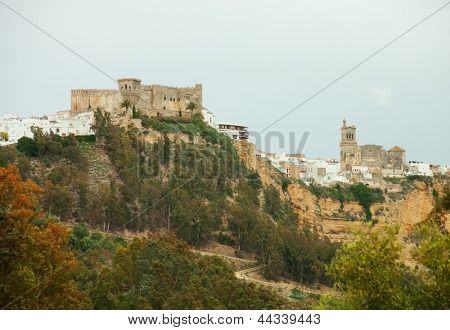Arcos de la Frontera,  Andalusia, Spain.       Arcos de la Frontera is a town in the province of Cadiz in southern Spain.