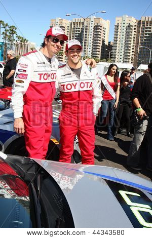 LOS ANGELES - APR 9:  Michael Trucco, Jesse Metcalfe at the Toyota ProCeleb Race Press Day 2013 at the Toyoto Grand Prix Circuit on April 9, 2013 in Long Beach, CA