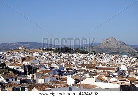 White town, Antequera, Spain.