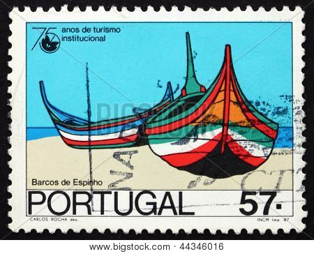 Postage Stamp Portugal 1987 Boats, Espinho